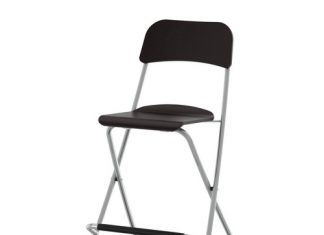 Franklin Bar Stool With Backrest Foldable 24 34 Quot Ikea intended for The Incredible as well as Gorgeous folding bar stool pertaining to Household
