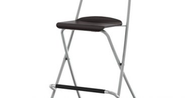 Franklin Bar Stool With Backrest Foldable 24 34 Quot Ikea pertaining to Ikea Folding Bar Stool
