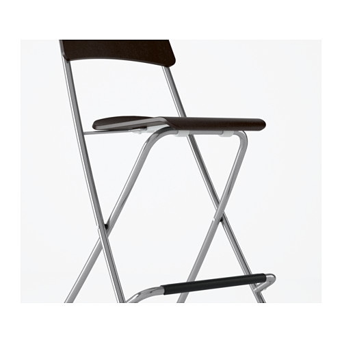 Franklin Bar Stool With Backrest Foldable 24 34 Quot Ikea regarding Foldable Bar Stools