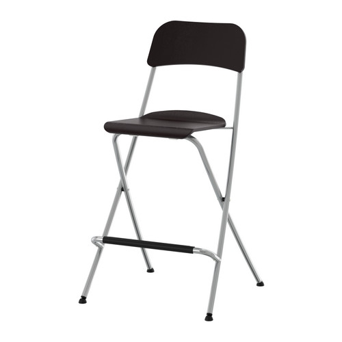 Franklin Bar Stool With Backrest Foldable 24 34 Quot Ikea with Folding Bar Stools