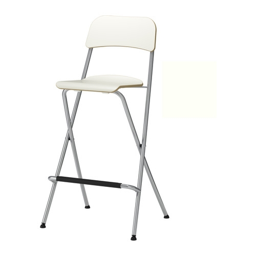 Franklin Bar Stool With Backrest Foldable 29 18 Quot Ikea regarding Foldable Bar Stool