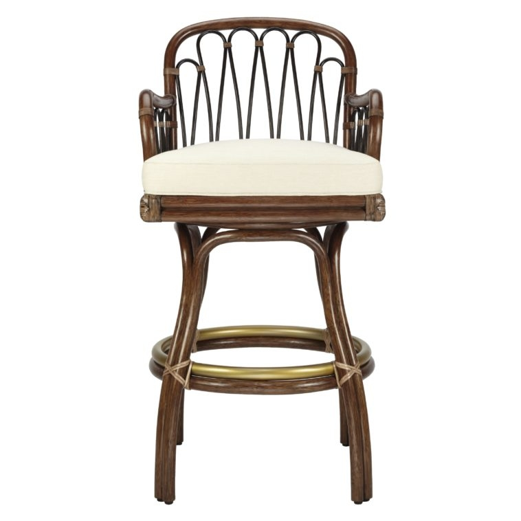 Furniture Rattan Stool With Back And Arm Using White Upholstered with regard to The Elegant along with Lovely 30 inch swivel bar stools with back regarding Residence