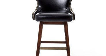 Furniture Rustic Leather Swivel Bar Stool With Curved Back The throughout Most Comfortable Bar Stools