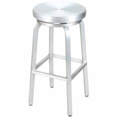Gampa Seating Classic Aluminum Outdoor Swivel Bar Stool 891 with regard to aluminum swivel bar stools for Your own home