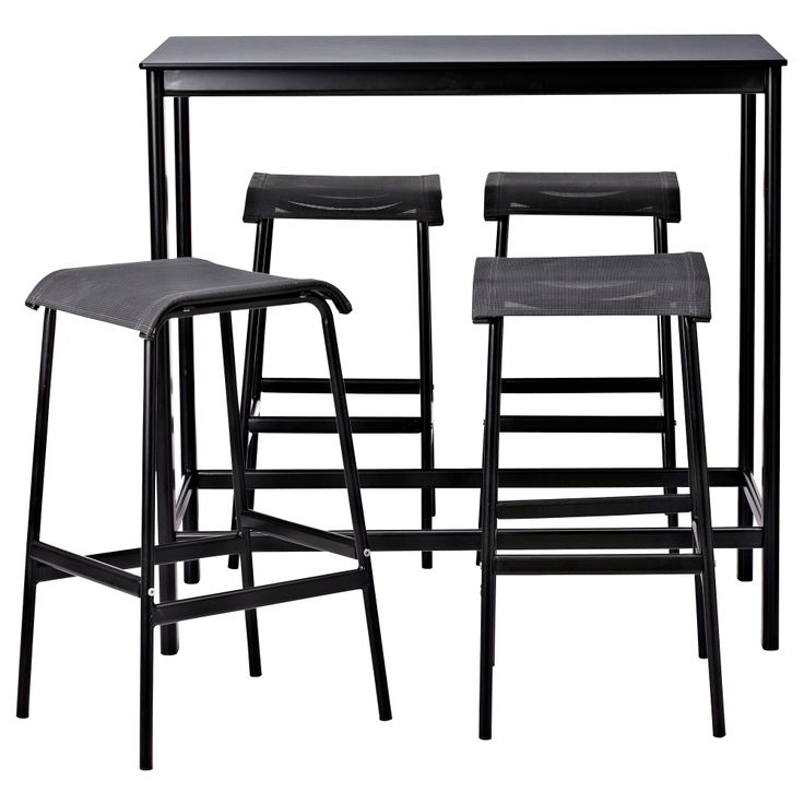 Garpen Bar Table And 4 Bar Stools Ikea Bar Stool Leg Frame Ikea for Outdoor Bar Stools Ikea
