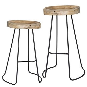 Gavin O39connor Stools And Bar Stools On Pinterest for The Elegant  iron and wood bar stools for Your house