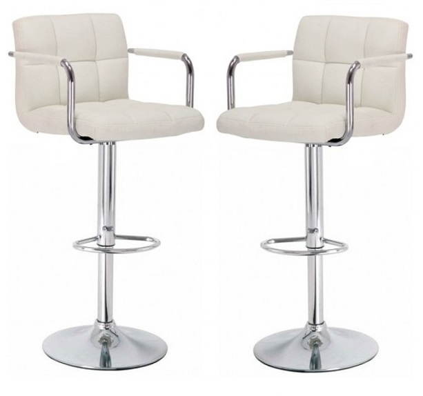 Glenn Bar Stools In Black Faux Leather In A Pair 25415 Furni throughout faux leather bar stools regarding Your own home