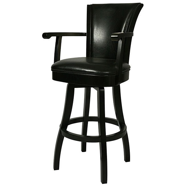 Glenwood 30 Inch Feher Black Wood Swivel Bar Stool 13434514 throughout The Most Brilliant and also Attractive black swivel bar stools intended for Property
