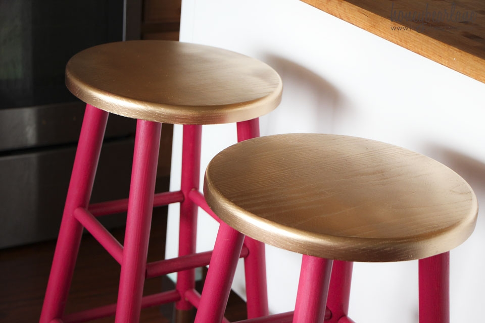 Gold Dipped Bar Stools for Painted Bar Stools