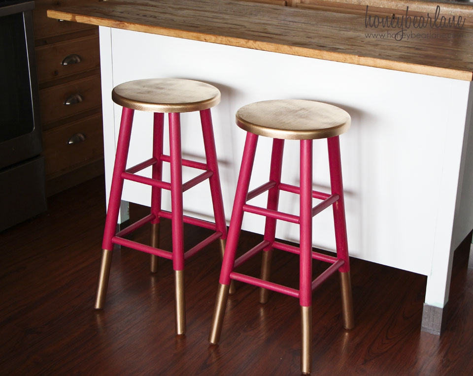 Gold Dipped Bar Stools with painted bar stools intended for Motivate