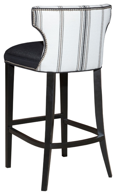 Gorgeous Black And White Bar Stool Kathryn Black And White Back in The Most Brilliant in addition to Stunning white bar stools with backs intended for Property