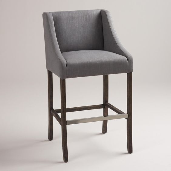 Gray Hayden Barstool World Market Grey And World inside grey bar stools for  Residence