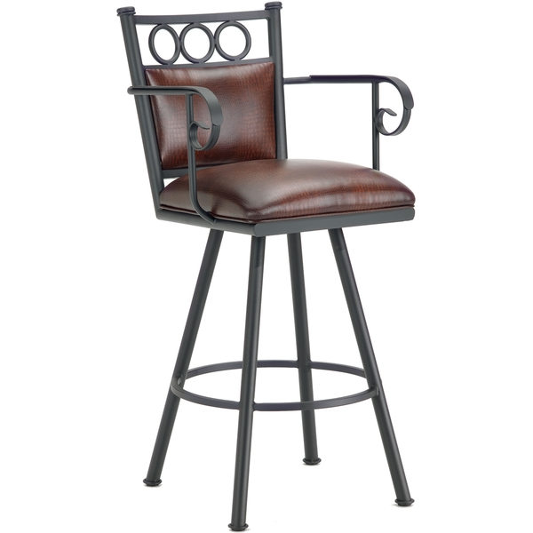 Counter Chair Stools And Wraps On Pinterest in swivel bar stool with arms with regard to Home
