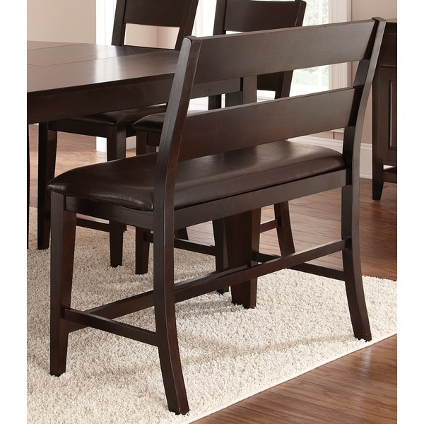 Greyson Living Vaughn Counter Height Bench 15914595 Overstock with bar stool bench with regard to Motivate