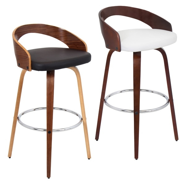 Grotto Mid Century Modern Wood Barstool 16554325 Overstock throughout Modern Wood Bar Stools