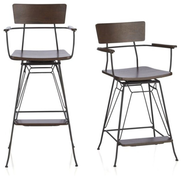Guest Picks Industrial Style Stools An Ideabook with industrial bar stools regarding Your house