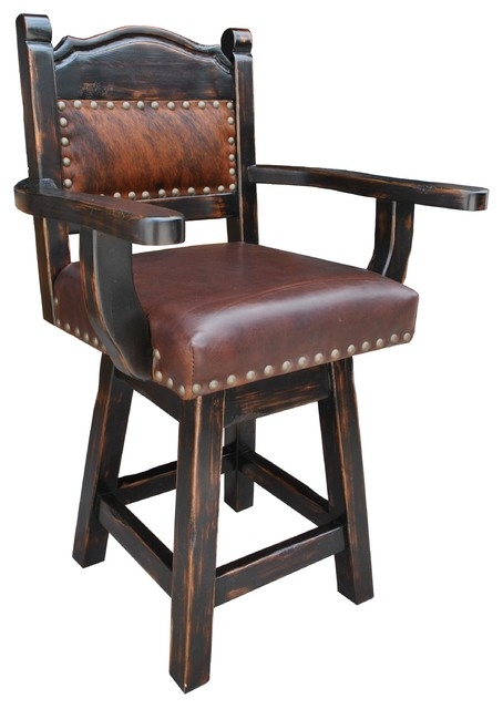 Hacienda Western Swivel Counter Stool Cowhide And Leather 24 with Amazing and Attractive 24 swivel bar stools regarding Found Household