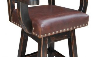Hacienda Western Swivel Counter Stool Cowhide And Leather 24 with The Elegant in addition to Interesting leather swivel bar stools with arms pertaining to Motivate