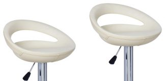 Harads Bar Stools Cream Set Of 2 Contemporary Bar Stools And throughout Cream Bar Stools