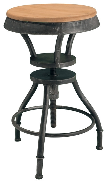Henry Adjustable Bar Stool Industrial Bar Stools And Counter with regard to Adjustable Height Bar Stools