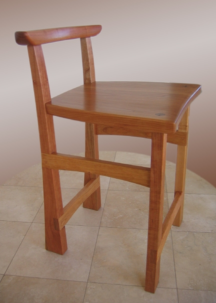 Hicks Woodworking Cherry Bar Stools pertaining to Cherry Bar Stools