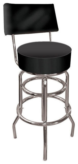 High Grade Black Padded Bar Stool With Back Bar Stools And with regard to Padded Bar Stools