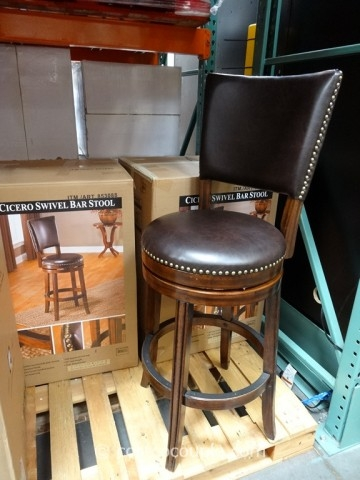 Hillsdale Furniture Cicero Swivel Barstool for Brown Leather Swivel Bar Stools