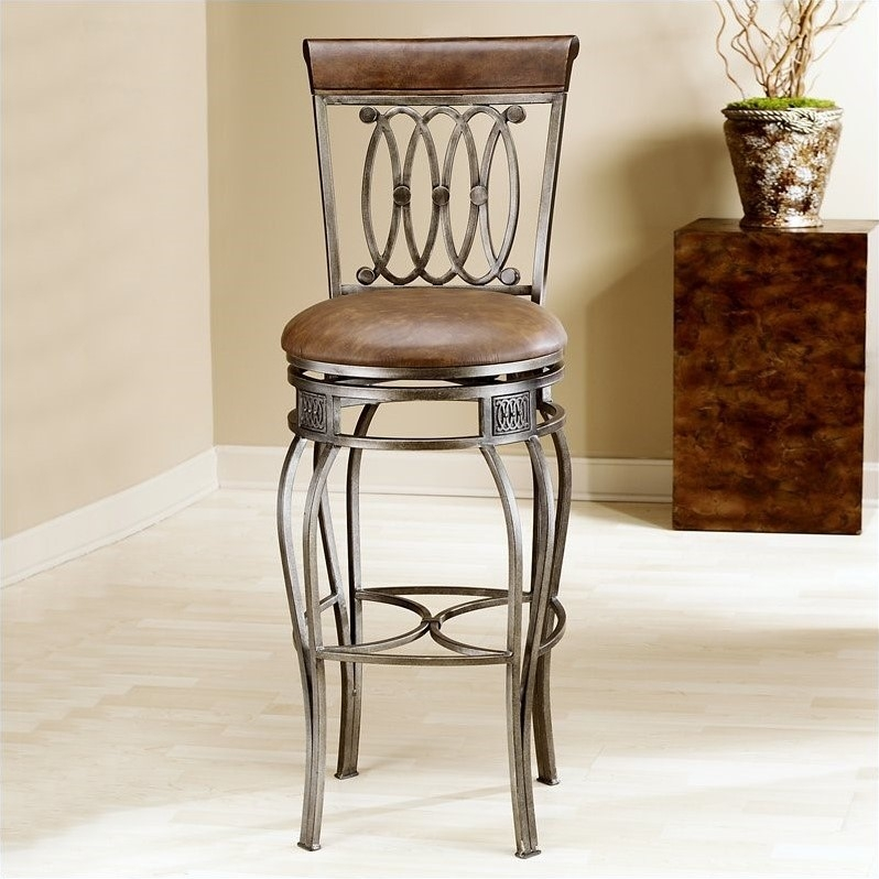 Hillsdale Montello 32quot Swivel Bar Stool In Old Steel 41545 pertaining to 32 Inch Swivel Bar Stools