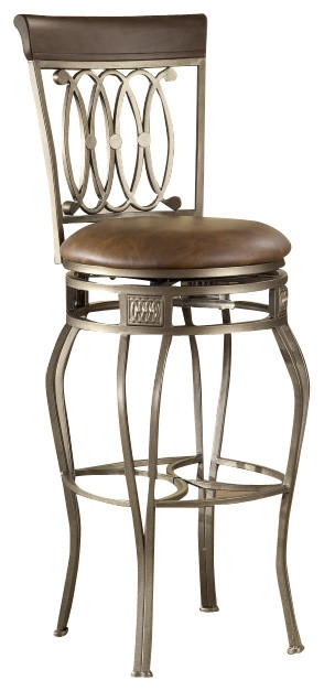 Hillsdale Montello Swivel 28 Inch Counter Height Stool pertaining to Hillsdale Bar Stools