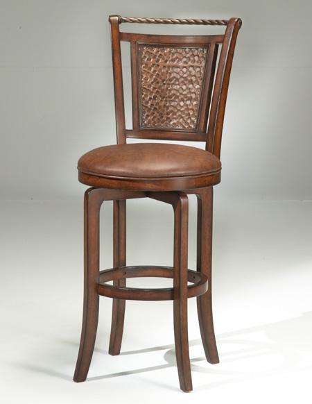 Hillsdale Norwood Swivel Brown Cherry And Copper Bar Stool4935 8311raw within Tropical Bar Stools