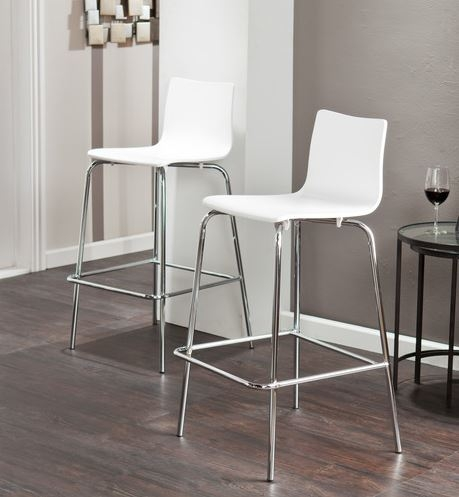 Holly Amp Martin Modern Bar Stools Thewhitebuffalostylingco with white modern bar stools for Your own home