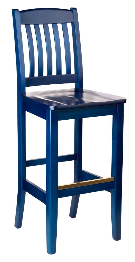 Holsag Bulldog Bar Stool with Navy Blue Bar Stools