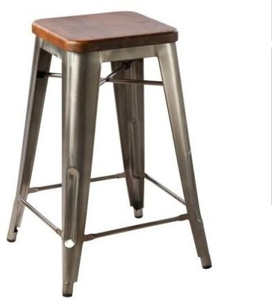 Hooligan Counter Stool Steel Amp Rustic Wood intended for The Most Incredible  industrial metal bar stools intended for Residence