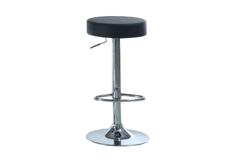 Hydraulic Round Bar Stools Set Of 2 Sharper Image intended for Round Bar Stools