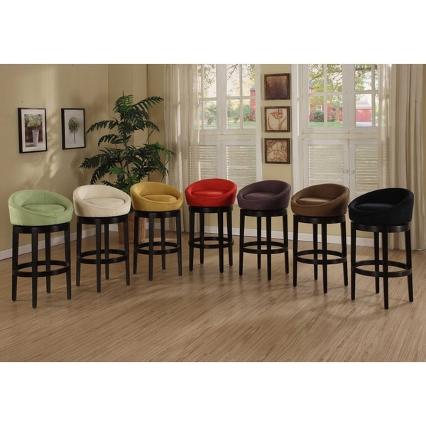 Igloo Swivel Microfiber Bar Stool 12009288 Overstock regarding bar stools overstock pertaining to Residence