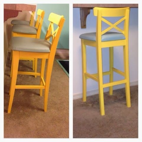 Ikea Hacks Bar Stools And Stools On Pinterest within 3 bar stools with regard to Residence