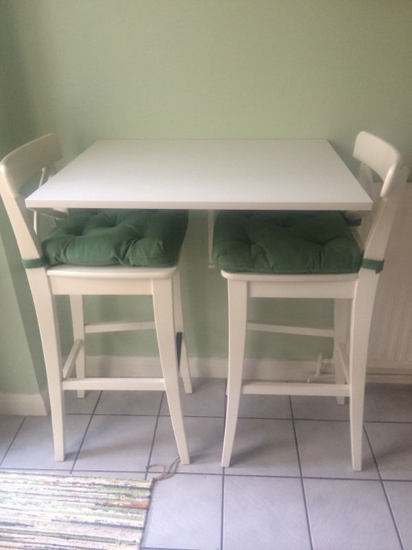 Ikea Ingolf Bar Stool And Bar Table In Bletchley in Ikea Ingolf Bar Stool