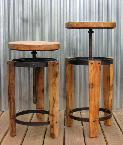 Incredible Reclaimed Wood Bar Stool Antiqued Industrial Bar Stool for reclaimed wood bar stool pertaining to Inspire