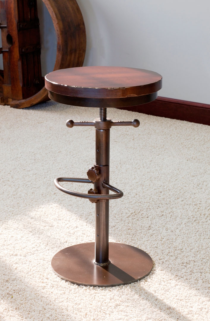 Industrial Bar Stool Adjustable Height Walnut Creek Furniture with The Most Brilliant in addition to Interesting bar stools adjustable intended for Your house