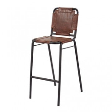 Industrial Leather Metal Bar Stool with metal and leather bar stools regarding Really encourage