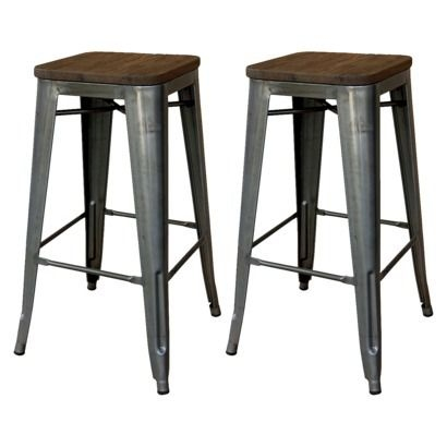 Industrial Stools And Target On Pinterest pertaining to Wood And Metal Bar Stools