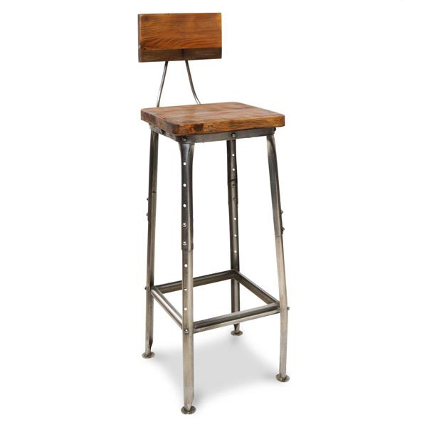 Industrial Style Bar Stools And Stools On Pinterest intended for Wood And Iron Bar Stools