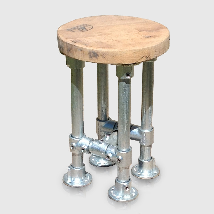 Industrial Style Kitchen Island Bar Stool Ratandpallet intended for Heavy Duty Bar Stools