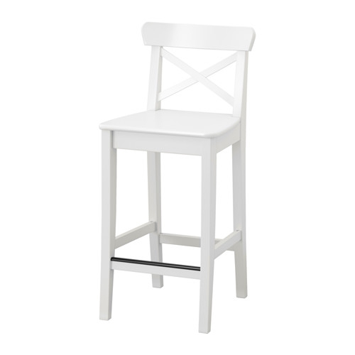 Ingolf Bar Stool With Backrest 29 18 Quot Ikea within The Most Stylish and also Attractive white bar stools ikea intended for Wish
