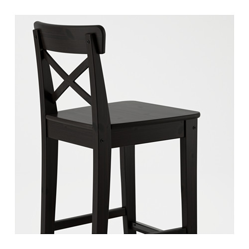 Ingolf Bar Stool With Backrest Ikea with bar stool with backrest with regard to Your own home