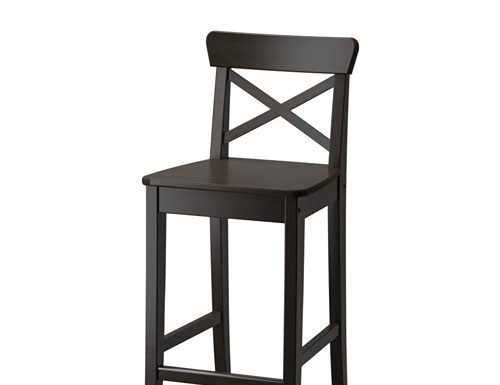Ingolf Bar Stool With Backrest Ikea with Ingolf Bar Stool