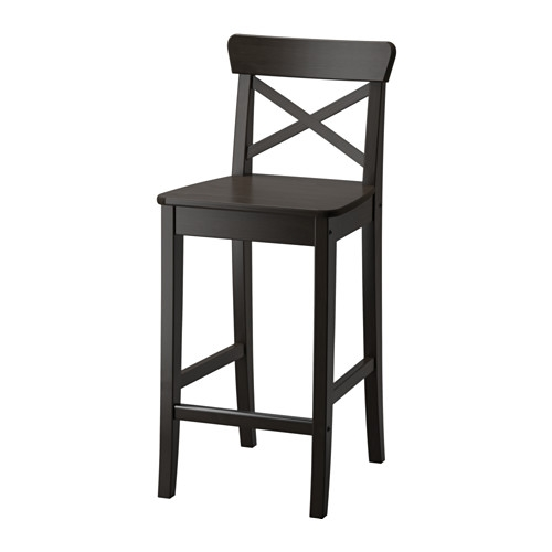 Ingolf Bar Stool With Backrest Ikea with regard to 24 Inch Bar Stools Ikea