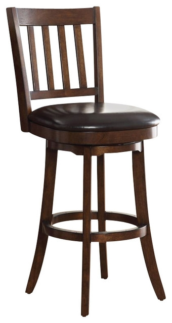 Inspired Bassett Mission Bar Stool In Espresso Finish for Craftsman Bar Stool