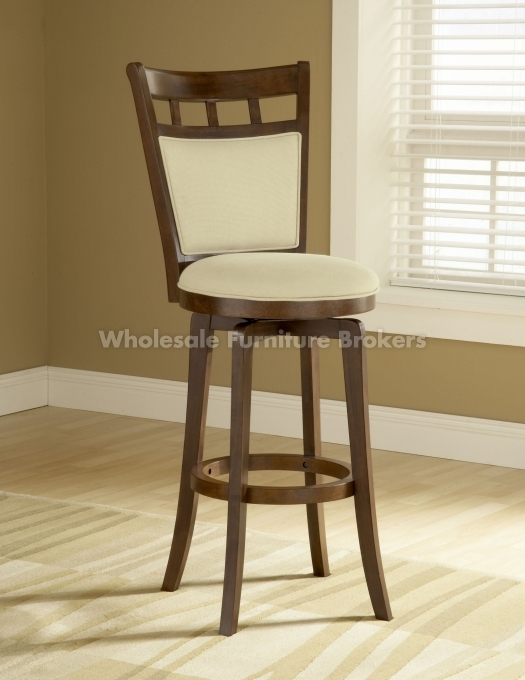Jefferson Swivel Bar Stool With Cushion Back within Bar Stools That Swivel With A Back
