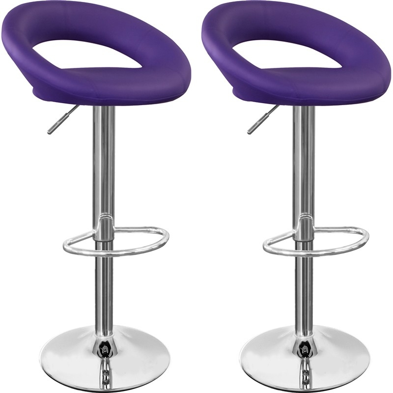 Kitchen Bar Stools Ideas Modern Kitchen Amp Decorating with purple bar stools for Cozy